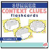 Summer Context Clues Flashcards--36 Flashcards for Grades 3-5