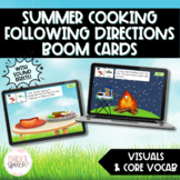 Summer Cooking Following Directions Boom Cards | Visual Supports | Language