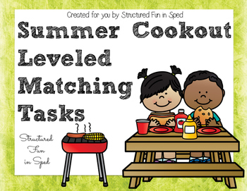 Summer Cookout Leveled Matching Tasks
