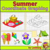 Summer Coordinate Graphing Mystery Pictures, Ordered Pairs, End of Year Activity