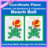 Summer Coordinate Graphing Picture: Beach Ball