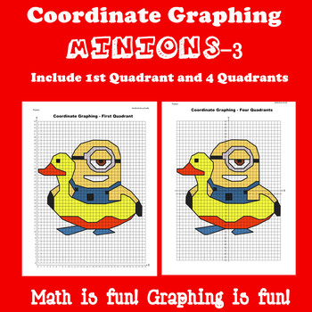 Summer Coordinate Graphing Picture: Bundle 6 in 1