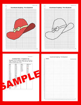 Summer Coordinate Graphing Picture: Hat