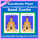 Summer Coordinate Graphing Picture: Sand Castle
