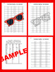 Summer Coordinate Graphing Picture: Sunglasses