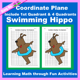 Summer Coordinate Graphing Picture: Swimming Hippo
