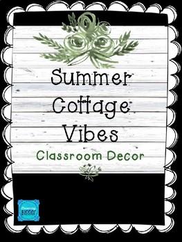 Summer Cottage Teacher Toolbox Labels