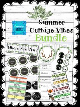 Summer Cottage Vibes Classroom Theme BUNDLE