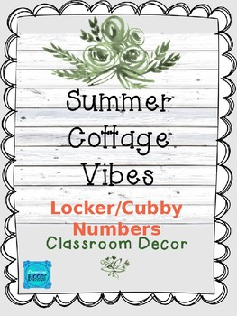 Summer Cottage Vibes: Locker (Cubby) Numbers