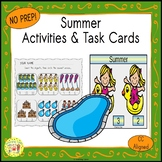 Summer Count and Clip Seasons Task Cards