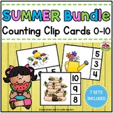 Summer Count and Clip Card Sets 0-10