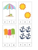 Summer Count and Clip Cards! #1-19