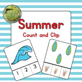 Summer Count and Clip Cards Center
