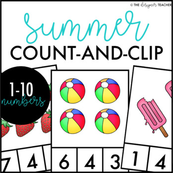 Summer Count and Clip Cards Numbers 1-10