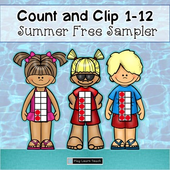 Summer Count and Clip Free 1-12