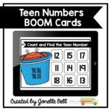 Summer Count and Find Teen Numbers Kindergarten Boom Cards