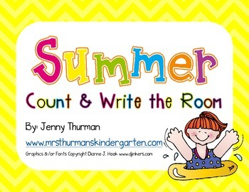 Summer Count and Write the Room