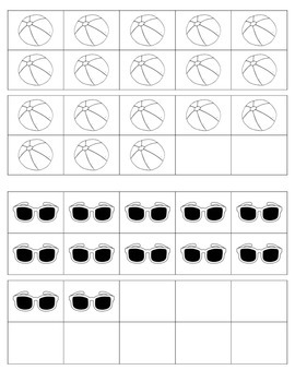 Summer Count the Room: A counting activity for numbers 10-19