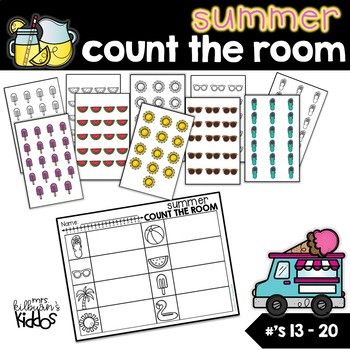 Summer Count the Room for Numbers 13-20