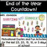 End of Year Countdown Distance Learning