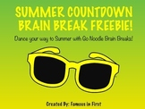 Summer Countdown Brain Break FREEBIE