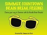 Summer Countdown Brain Break FREEBIE