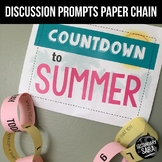 Summer Countdown Paper Chain: 30-Day Bell-Ringer or Discussion Prompts EDITABLE