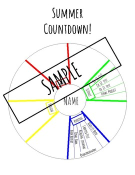 photo relating to Countdown Printable identified as Summer season Countdown Printable