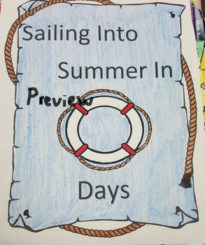 Summer Countdown! Sailing into summer! Black and white