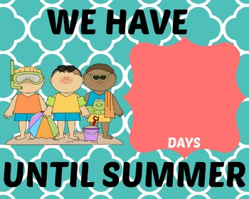 Summer Countdown Sign