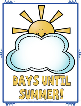 Summer Countdown Sign with Paper Chain: Count Down the Last 30 Days of School!