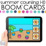 Summer Counting 1-10 Boom™ Cards - Distance Learning for S