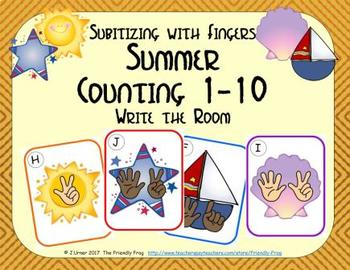 Summer Counting 1-10 {Subitizing with Fingers}