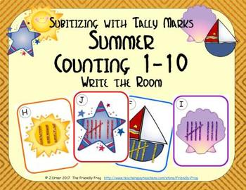 Summer Counting 1-10 {Subitizing with Tally Marks}