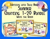 Summer Counting 1-20 Bundle {Subitizing with Tally Marks}