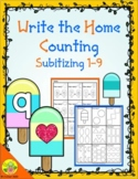 Summer Counting 1-9 (Subitizing) Write the Home | Distance