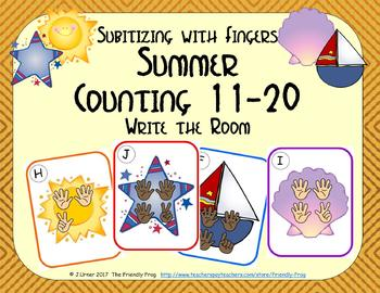 Summer Counting 11-20 {Subitizing with Fingers}
