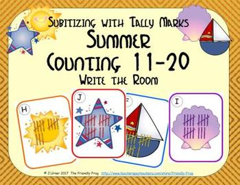 Summer Counting 11-20 {Subitizing with Tally Marks}