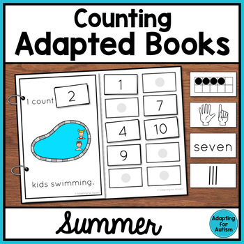 Summer Counting Adapted Books for Special Education and Autism