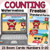 Summer Counting Cardinal Numbers Standard Form Activity