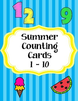 Summer Counting Cards 1 - 10