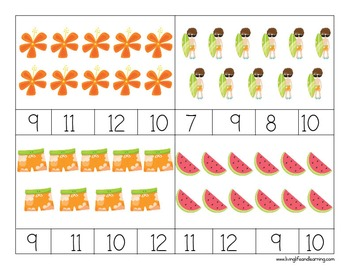 Summer Counting Cards