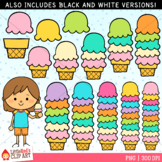 Summer Counting Clip Art - Counting Ice Cream