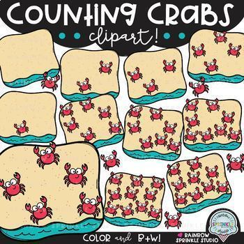 Summer Counting Clipart MEGA Bundle! (summer clipart)