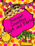 Summer Counting Cut and Paste