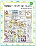 Summer Counting Games - Numbers 0 to 10