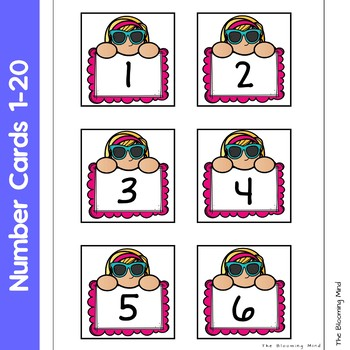 Summer Counting Mats By The Blooming Mind Teachers Pay Teachers