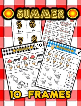 Summer Counting / Number Activity Set