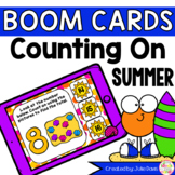 Summer Counting On Addition Digital Game Boom Cards