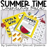 Summer Counting Pack - Hands on Counting Activities for Nu